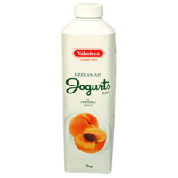 Drinking yogurt with peach additive