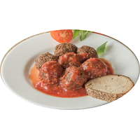 "Fish meatballs in tomato sauce ""The Sea Stones"""