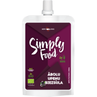 "Apple, blackcurrant pulp juice ""Simply Food"""