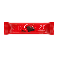 RED Delight no added sugar reduced calories dark chocolate. With sweeteners. 26g