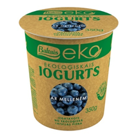 Baltais Eko yogurt with blueberries, 350g