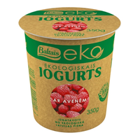 Baltais Eko yogurt with raspberries, 350g
