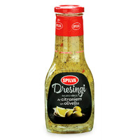 Salad dressing with lemon and olive oil